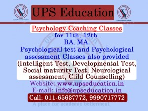 Delhi Topper Psychology Coaching with Lab facility - UPS Education Coaching Center